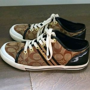 COACH Folly Signature Brown Sneakers